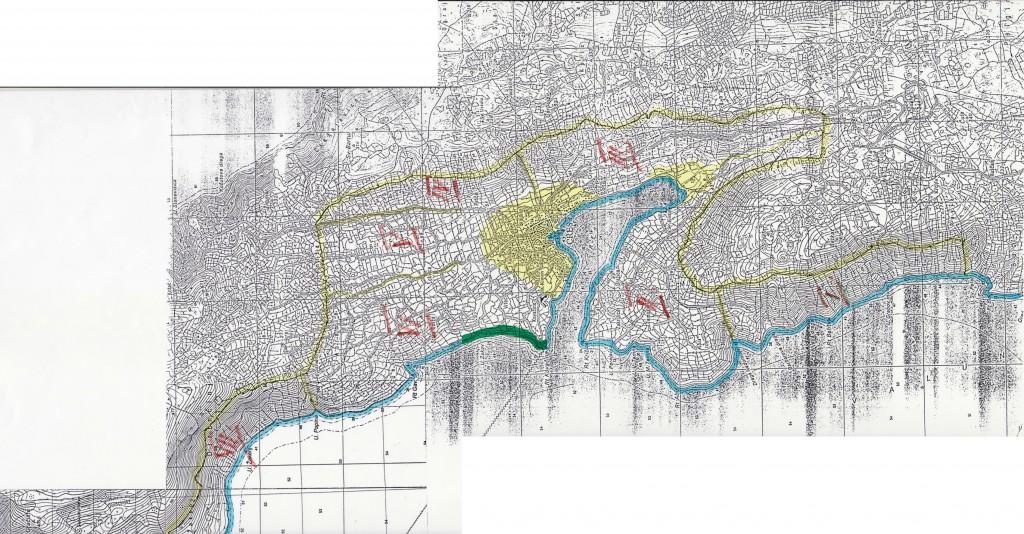 L'area studiata dal Cavallini